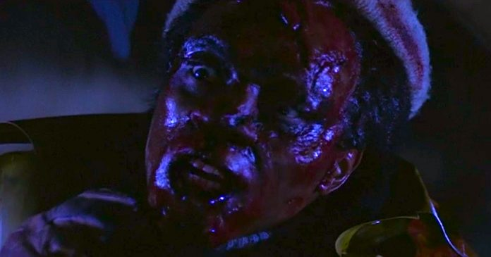 Tom Wright as the hitchhiker in Creepshow 2