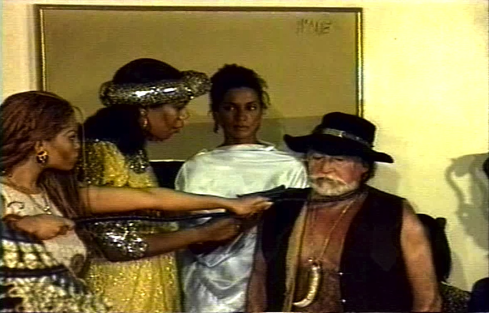 A scene from the horror movie Female Slaves Revenge (AKA Apartheid Slave Women's Justice)