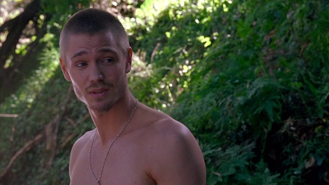 Chad Michael Murray in the horror movie House of Wax