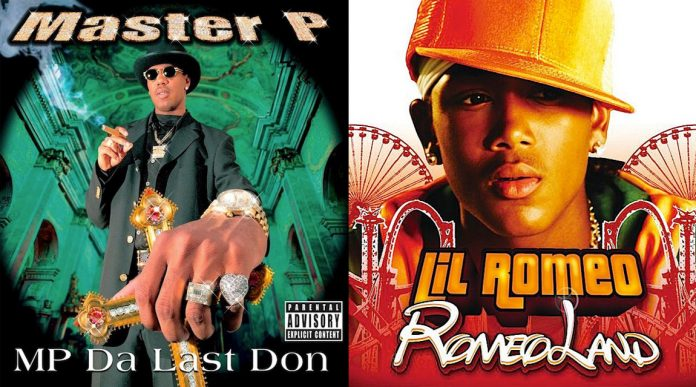 Rappers Master P and Lil' Romeo