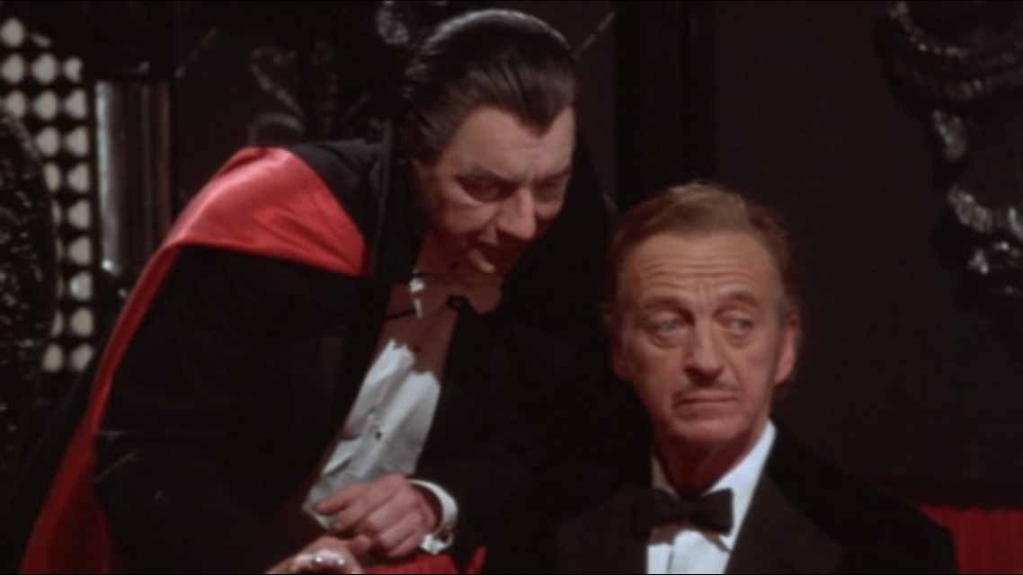 A scene from the movie Old Dracula (Vampira)