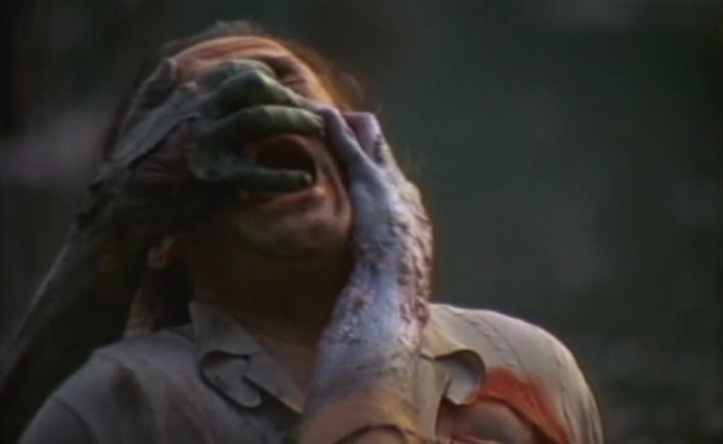 A scene from the horror movie The Offspring (From a Whisper to a Scream)
