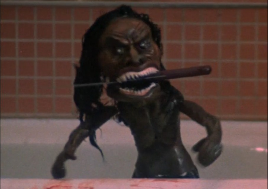 A scene from the horror movie Trilogy of Terror