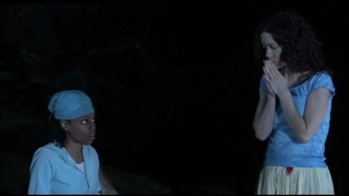 A scene from the horror movie Voodoo Curse: The Giddeh