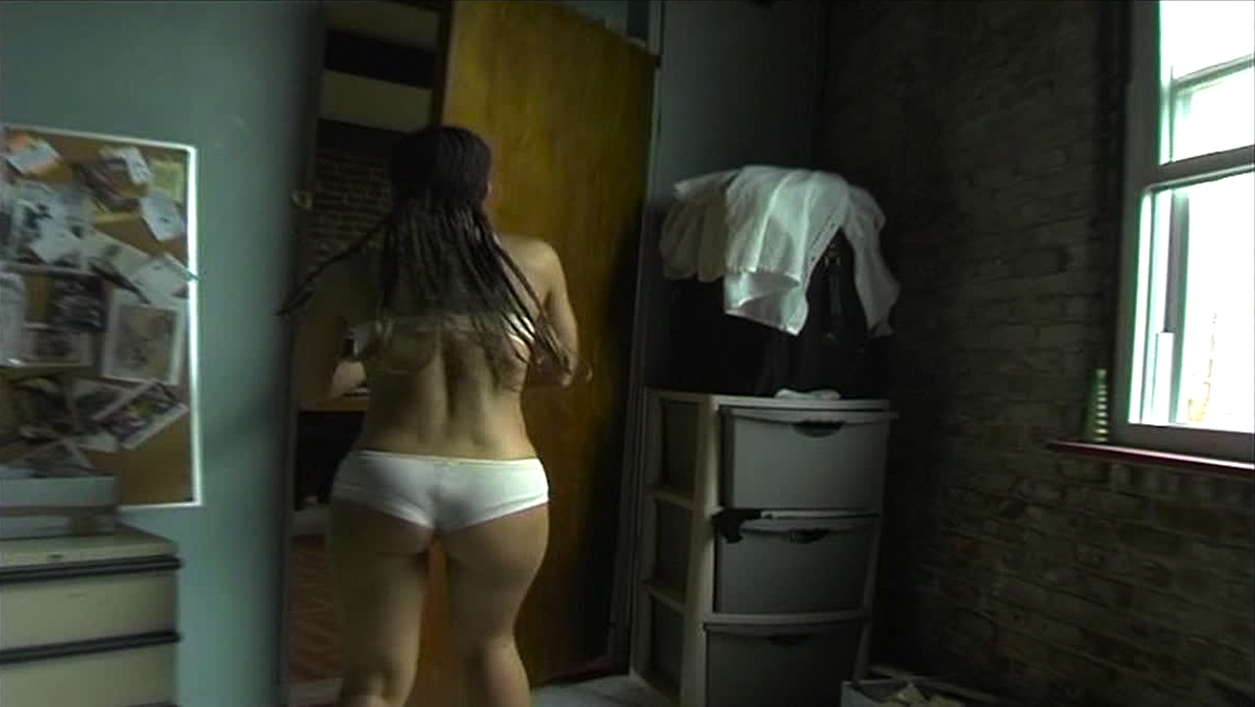 Jenicia Garcia's booty in the black horror movie Zombiez
