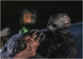 Jason Vorhees dispatches another black victim in Friday the 13th Part 7 VII