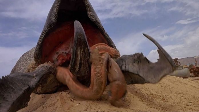 Graboid worm monster in Tremors 5: Bloodlines horror movie