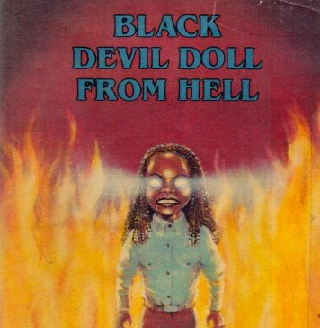 Black Devil Doll from Hell horror movie poster