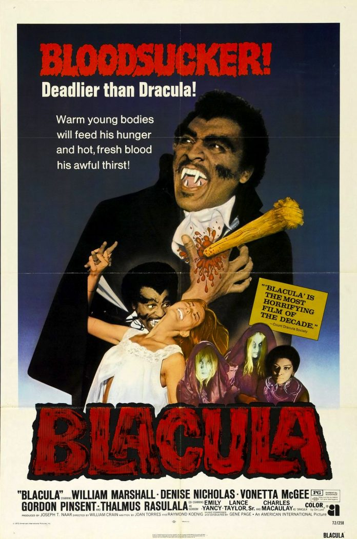 Blacula horror movie poster