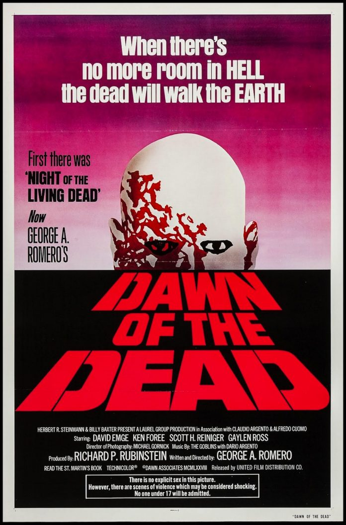 Dawn of the Dead (1978) horror movie poster