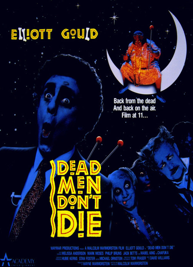 Elliott Gould in Dead Men Don't Die movie poster