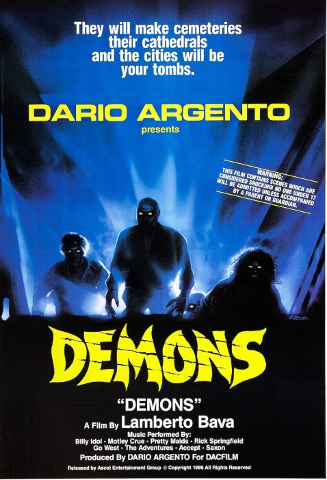 Demons horror movie poster