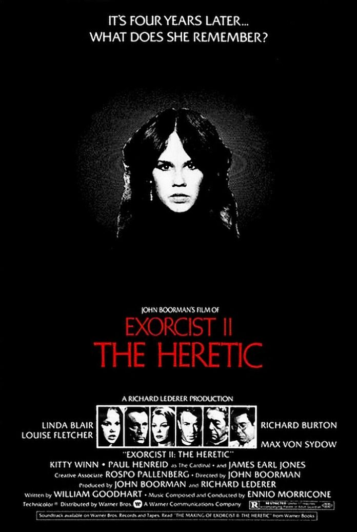 Exorcist II: The Heretic horror movie poster