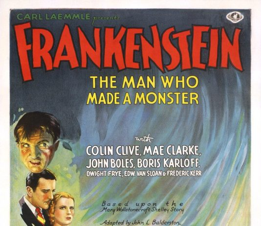 Frankenstein horror movie poster
