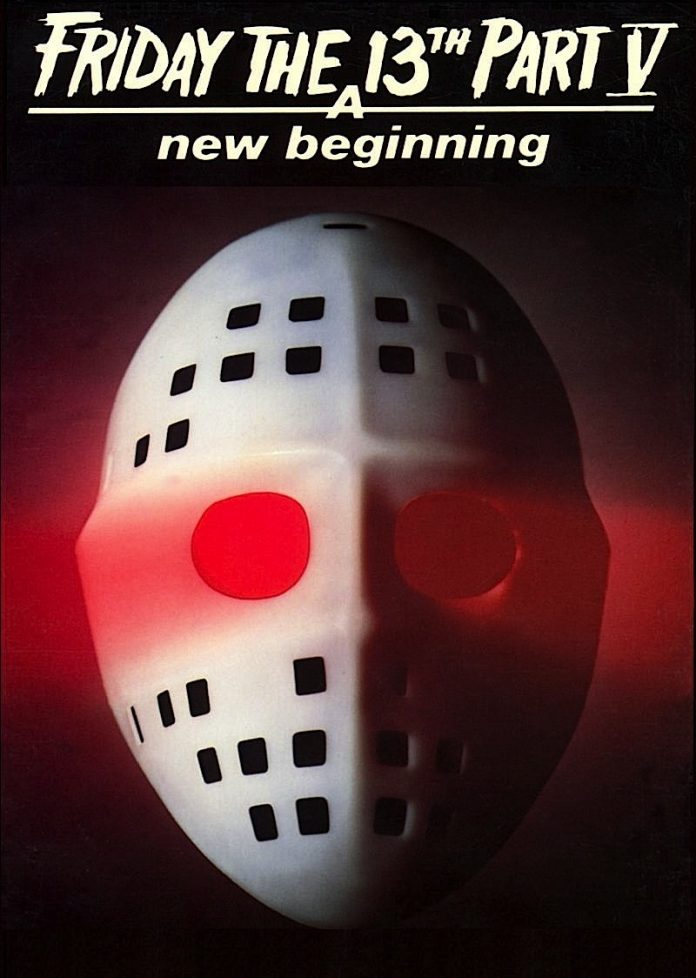 Friday the 13th Part 5 A New Beginning horror movie poster