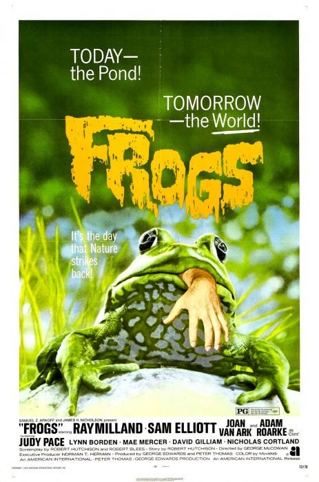 Frogs horror movie poster