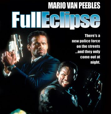 Mario Van Peebles in Full Eclipse horror movie poster