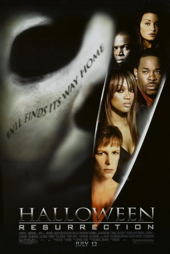 Halloween Resurrection horror movie poster