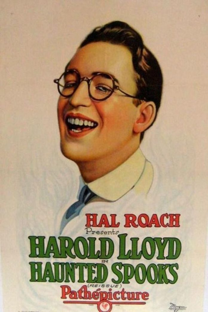 Harold Lloyd in Haunted Spooks movie poster