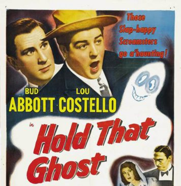 Abbott and Costello in Hold That Ghost movie poster