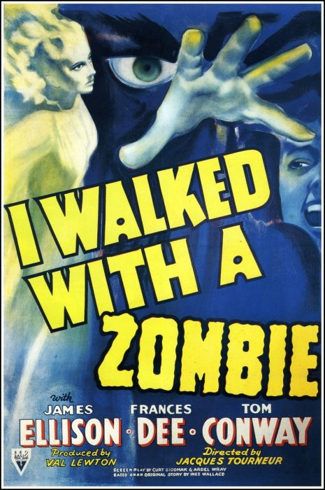 I Walked with a Zombie horror movie poster