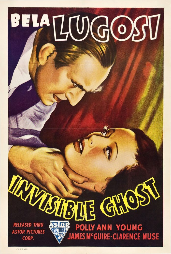 Bela Lugosi in Invisible Ghost horror movie poster