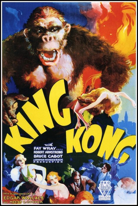 King Kong (1933) horror movie poster