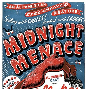 Midnight Menace horror movie poster