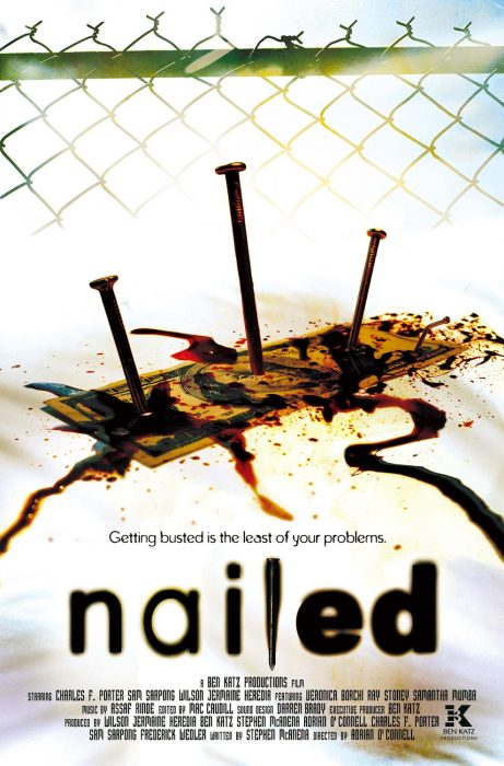 Nailed horror movie poster