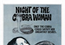 Night of the Cobra Woman horror movie poster