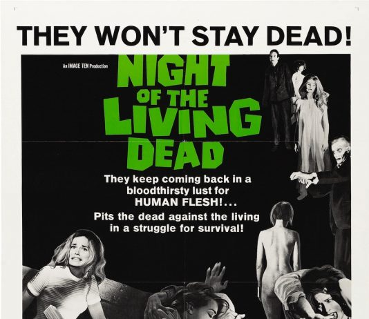George Romero's Night of the Living Dead horror movie poster