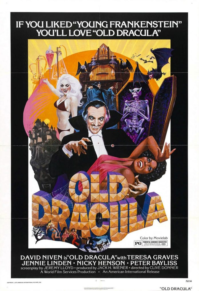 Old Dracula movie poster