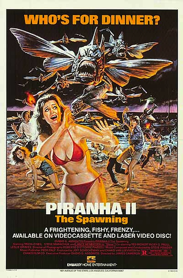 Piranha II: The Spawning horror movie