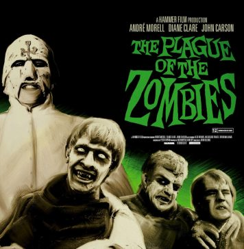 The Plague of the Zombies horror movie poster