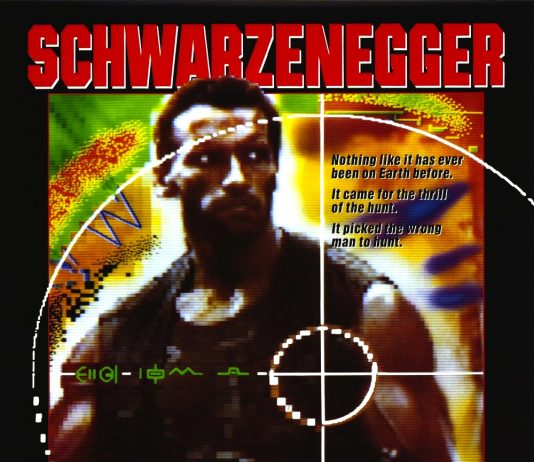 Arnold Schwarzenegger in Predator movie poster