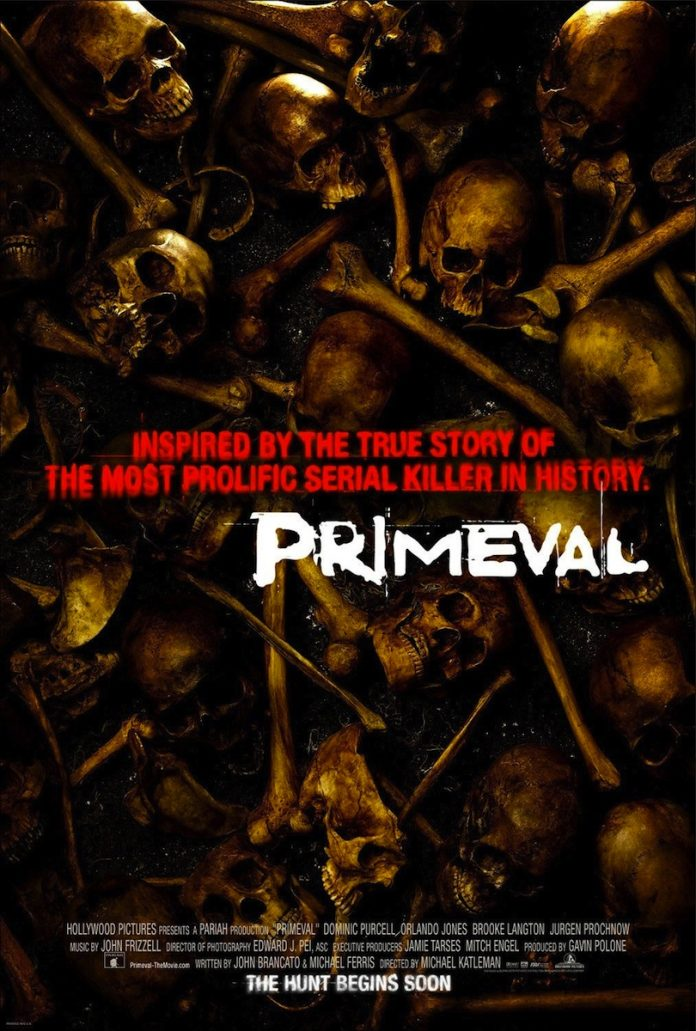 Primeval horror movie poster