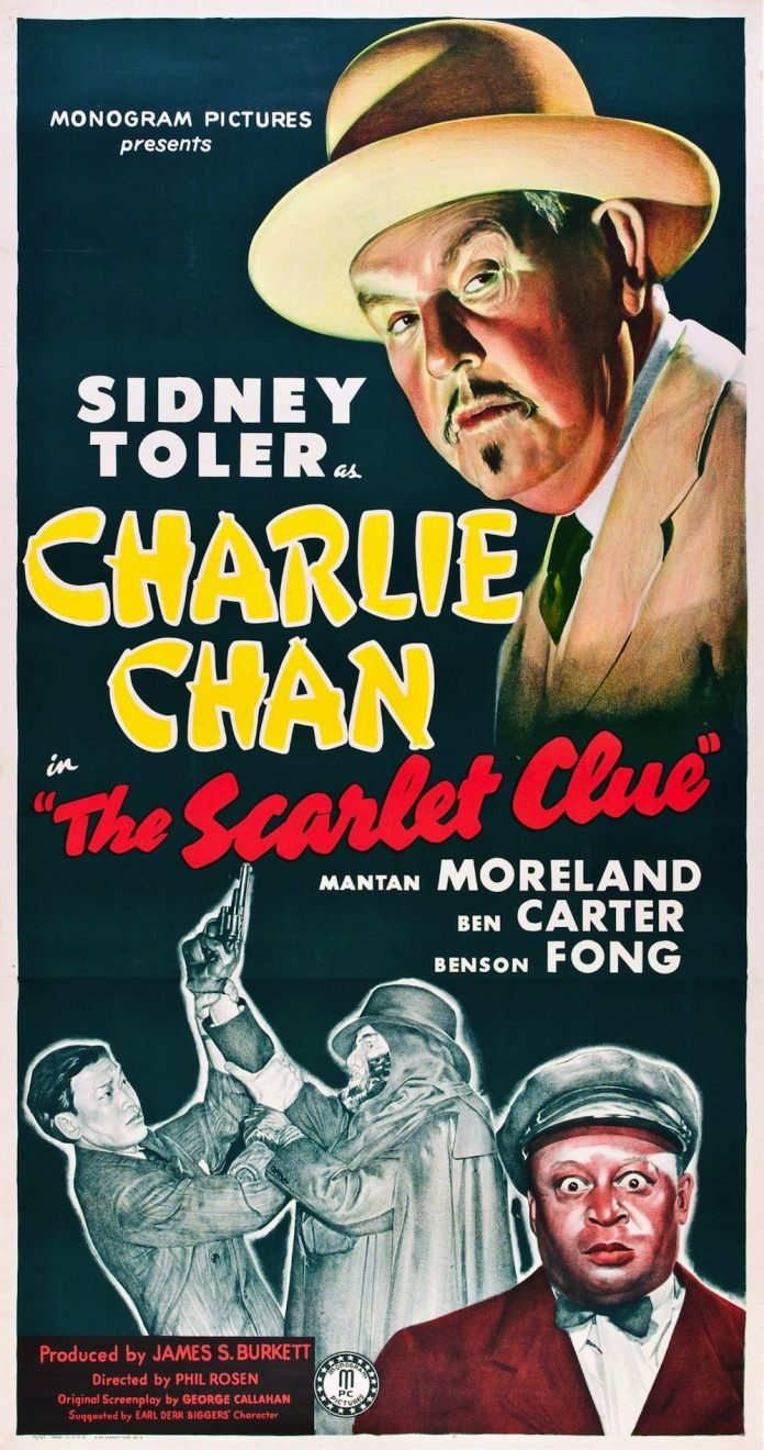 The Scarlet Clue Charlie Chan movie poster