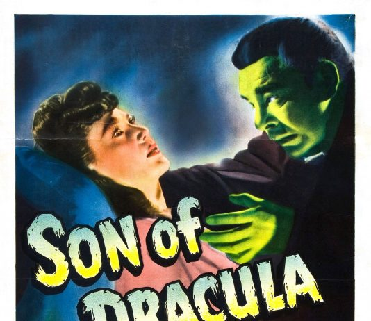 Lon Chaney Jr. in Son of Dracula horror movie poster