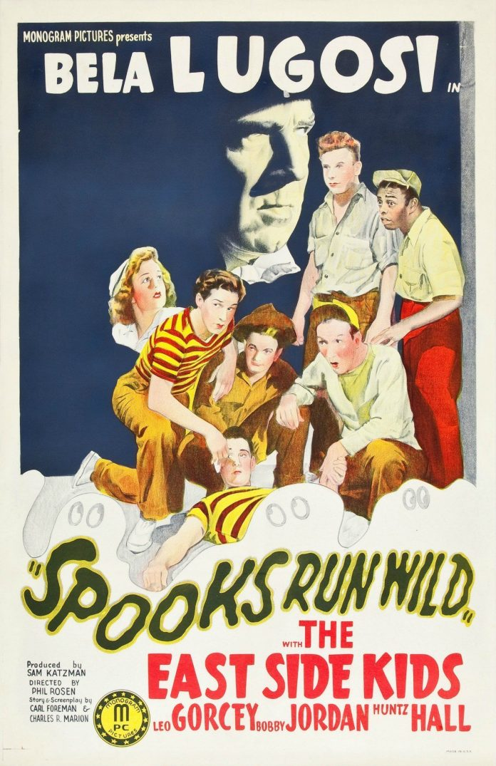 Bela Lugosi in Spooks Run Wild horror movie poster