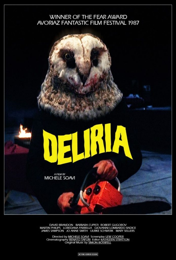 Stage Fright Deliria horror movie poster