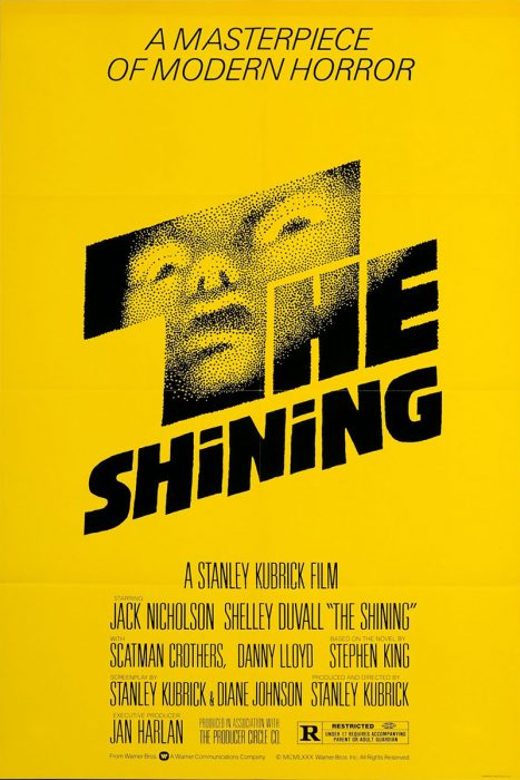 The Shining horror movie poster