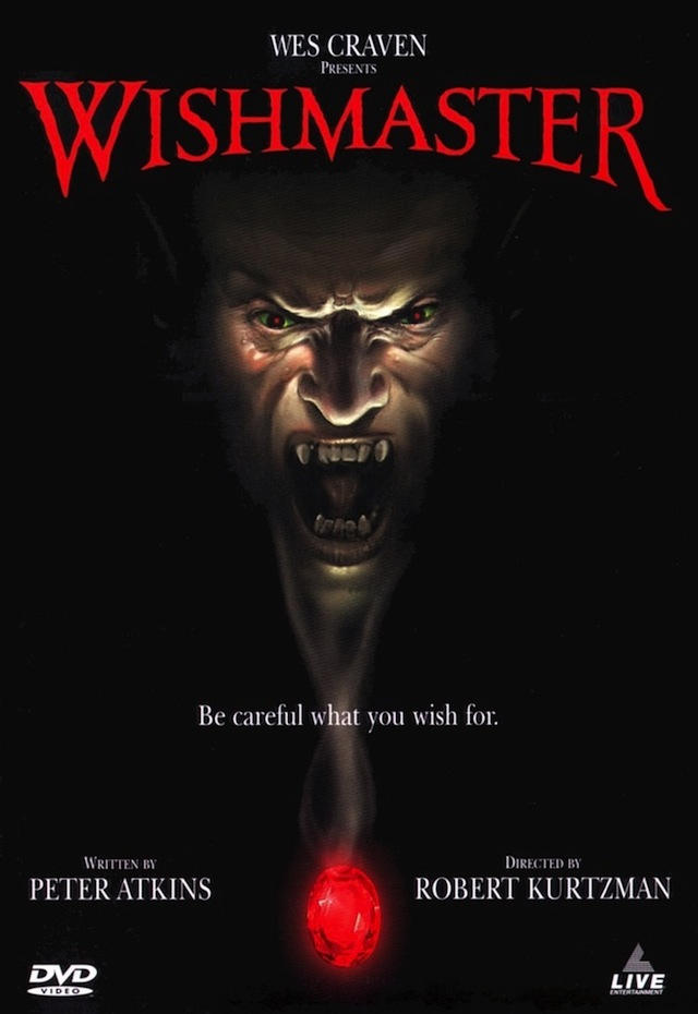 Wishmaster horror movie poster