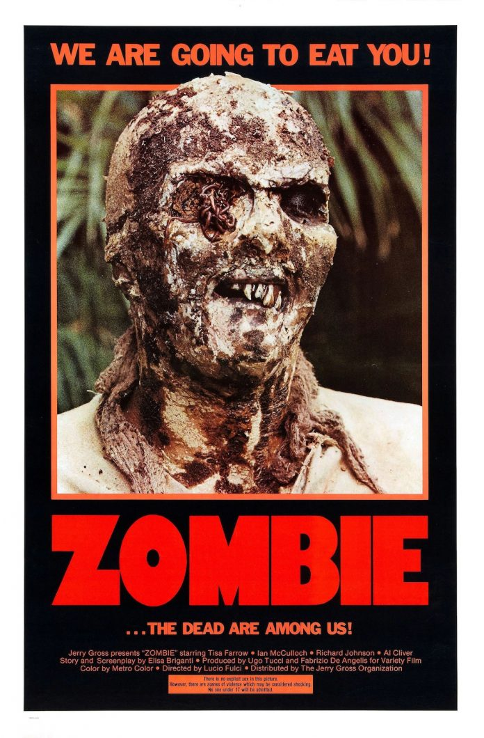Zombie Zombi 2 horror movie poster
