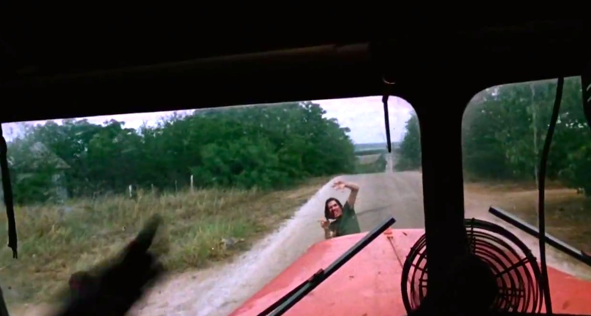 A scene from The Texas Chainsaw Massacre