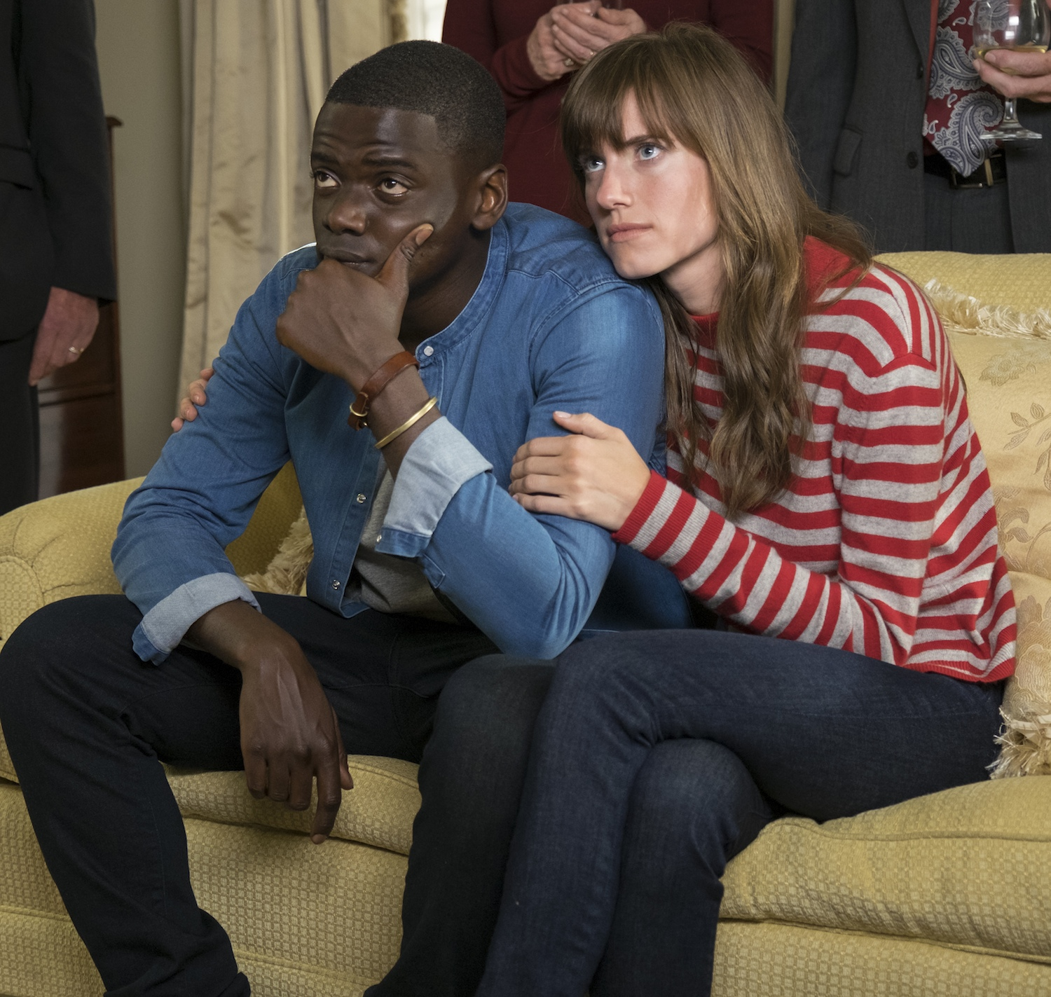 Danel Kaluuya and Allison Williams in Get Out