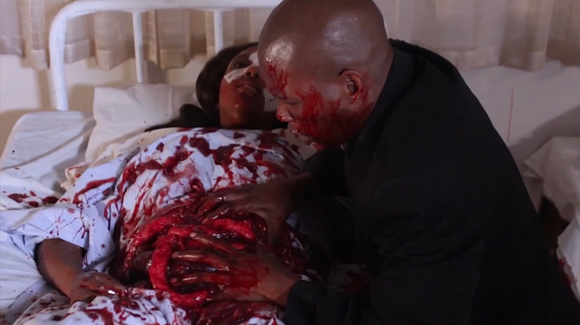 A scene from the horror movie Ghetto Goblin (Blood Tokoloshe)