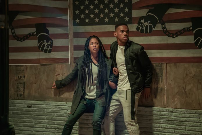 A scene from the movie The First Purge