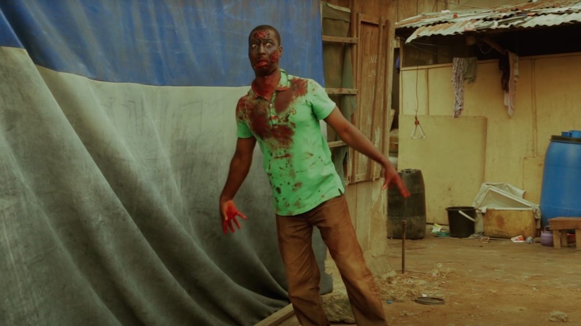 A scene from the zombie movie Ojuju
