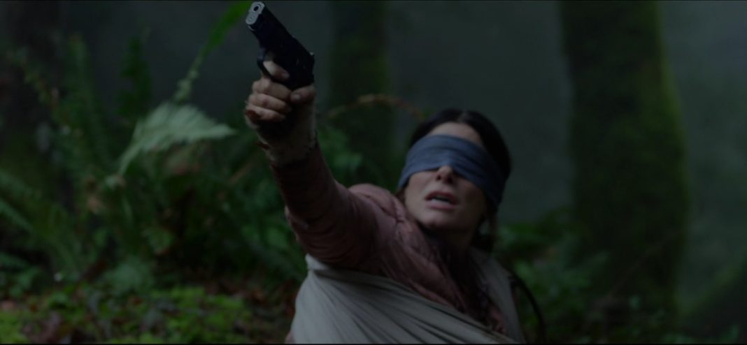 A scene from the movie Bird Box