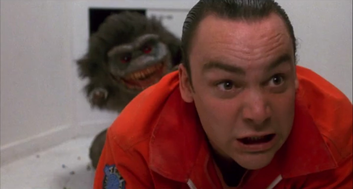 A scene from the horror movie Critters 4
